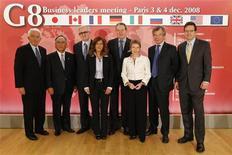<p>Il presidente di Confindustria Emma Marcegaglia in una foto a un vertice dei leader industriali del G8 a Parigi. REUTERS/Benoit Tessier</p>