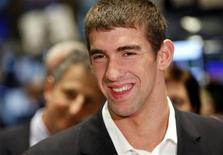 <p>Il nuotatore olimpionico Michael Phelps. REUTERS/Chip East (UNITED STATES)</p>