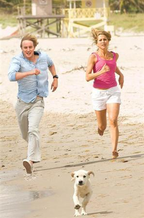 A scene from ''Marley & Me''. Jennifer Aniston and Owen Wilson star in the adaptation of a bestseller about a couple and their Labrador retriever. REUTERS/Handout