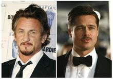"""<p>Fotografía combinada de los actores Sean Penn (izquierda en la imagen) y Brad Pitt. La Asociación de Productores de Estados Unidos (PGA, por su sigla en inglés) presentó el lunes a los candidatos para sus premios de cine y televisión, con """"The Dark Knight"""" y """"The Curious Case of Benjamin Button"""" entre los nominados a la mejor producción en largometraje. REUTERS/Mario Anzuoni/Fred Prouser/Files</p>"""