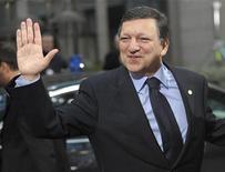 <p>Президент Еврокомиссии Жозе Мануэл Баррозу на саммите лидеров стран ЕС в Брюсселе 12 декабря 2008 года. Глава российского газового монополиста Газпром Алексей Миллер встретится в четверг с председателем Еврокомиссии Жозе Мануэлом Баррозу, чтобы обсудить российско-украинский газовый конфликт, сообщил представитель российской компании. REUTERS/Ezequiel Scagnetti</p>