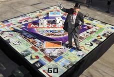<p>Un Monopoli in versione gigante REUTERS/Ray Stubblebine/Hasbro/Handout</p>