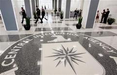 <p>Фойе штаб-квартиры ЦРУ в Маклине, штат Виргиния, 14 августа 2008 года. Избранный президент США выдвинул в пятницу Леона Панетту на должность директора Центрального разведывательного управления, а Денниса Блэра - на пост директора национальной разведки, которым, по его словам, отведена ключевая роль в улучшении изрядно подмоченной репутации США за рубежом. REUTERS/Larry Downing</p>