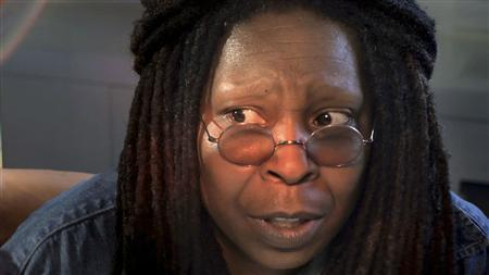 Whoopi Goldberg speaks during a scene from FEARnet's sci-fi mini-series ''Stream'' in this undated publicity handout. Whoopi Goldberg is returning from a brief retirement as an actress to boldly go to where few stars have gone before -- online science fiction. Two decades after first appearing on ''Star Trek: The Next Generation,'' the Oscar-winning actress is producing and starring in a new sci-fi series called ''Stream'' that premieres on January 15, 2009 on the horror website and video-on-demand network FEARnet. REUTERS/FEARnet/Handout