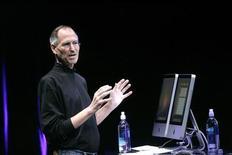 <p>Apple rischia di essere citata in tribunale dagli investitori scontenti della brusca svolta della società sulla salute del suo numero uno Steve Jobs, ma la legge non dice chiaramente se la compagnia sia obbligata a rivelare informazioni sulla salute di un suo dirigente. REUTERS/Robert Galbraith (UNITED STATES)</p>