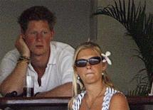 <p>Britain's Prince Harry (L) sits with his girlfriend Chelsy Davy (R) as England play Bangladesh during their World Cup cricket Super Eights match in Bridgetown, April 11, 2007. REUTERS/Darren Staples</p>