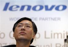 <p>Yang Yuanqing, presidente di Lenovo Group. REUTERS/Victor Fraile</p>