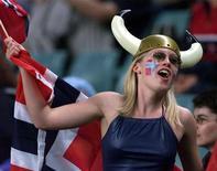 <p>Una tifosa norvegese. BY/</p>