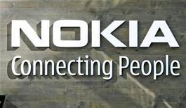 <p>Il logo di Nokia, immagine d'archivio. REUTERS/Bob Strong (FINLAND)</p>
