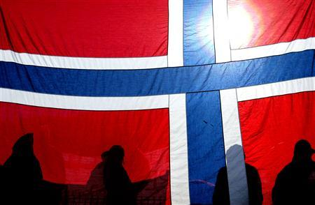 Norway's $300 billion (210 billion pounds) plus sovereign wealth fund has excluded U.S. weapons producer Textron and Canadian mining group Barrick Gold for ethical reasons. This undated file photo shows the Norwegian flag.