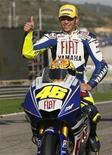 <p>Motociclismo, Rossi: moto più accessibili e meno tecnologiche. REUTERS/Heino Kalis</p>