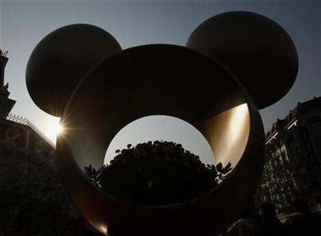 An installation is displayed at Hong Kong Disneyland January 15, 2009. REUTERS/Bobby Yip