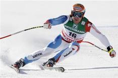<p>Lo sciatore svizzero Didier Cuche. REUTERS/Ruben Sprich (FRANCE)</p>