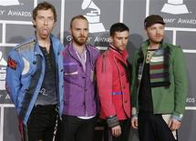 <p>The band Coldplay arrives at the 51st annual Grammy Awards in Los Angeles February 8, 2009. REUTERS/Danny Moloshok</p>