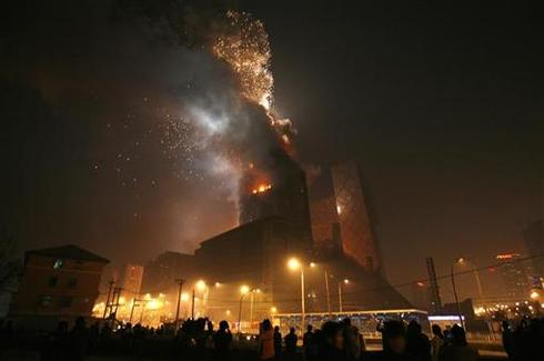 Hotel fire in Beijing