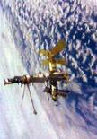 <p>Immagine d'archivio della stazione spaziale russa Mir. SPACE SHUTTLE MIR</p>