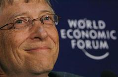 <p>Il fondatore di Microsoft Bill Gates al World Economic Forum. REUTERS/Christian Hartmann</p>