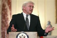 <p>Il ministro degli Esteri tedesco Frank-Walter Steinmeier. REUTERS/Jason Reed (UNITED STATES)</p>