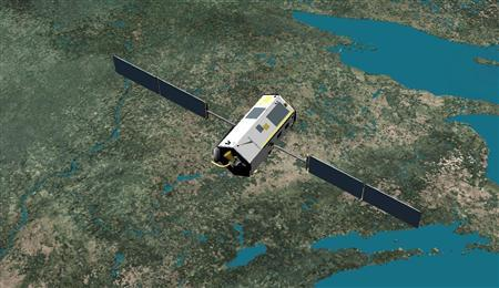 An artists rendering of the Orbiting Carbon Observatory in an undated image. REUTERS/NASA JPL/Handout