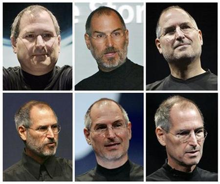 Apple Chief Executive Steve Jobs in a combination image. REUTERS/Files