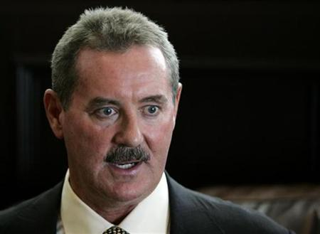 Texan billionaire Allen Stanford talks during an interview in Miami in this May 1, 2008 file photo. REUTERS/Joe Skipper