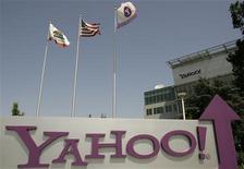 <p>Selon la nouvelle directrice générale de Yahoo, Carol Bartz, les réseaux sociaux en ligne sont un centre d'intérêt pour le géant de l'internet, même si en parallèle la société cherche à dynamiser son activité de moteur de recherche. /Photo d'archives/REUTERS/Robert Galbraith</p>