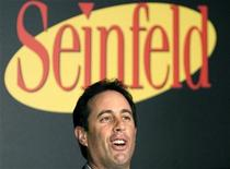 "<p>Actor and comedian Jerry Seinfeld comments on the induction of the ""puffy shirt"" into the Smithsonian National Museum of American History, in Washington November 18, 2004. REUTERS/Shaun Heasley</p>"