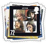 <p>Immagine dei Beatles sulla copertina di uno dei loro album. FOR EDITORIAL USE ONLY REUTERS/Royal Mail/Handout (BRITAIN)</p>
