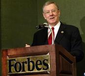 <p>Immagine d'archivio di Steve Forbes, presidente e direttore della rivista Forbes. REUTERS/Shannon Stapleton SS/GN</p>
