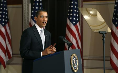 President Barack Obama speaks at the White House in Washington March 11, 2009. REUTERS/Kevin Lamarque