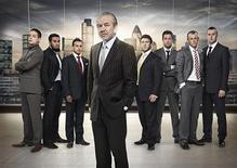 "<p>Howard Ebison, Majid Nagra, Noorul Choudhury, Sir Alan Sugar, Ben Clarke, Phillip Taylor, Rocky Andrews, James McQuillan of the show ""The Apprentice"" are shown in this undated handout. REUTERS/BBC Pictures/Handout</p>"
