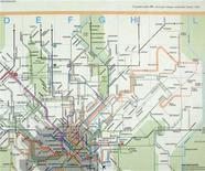 <p>La cartina del metrò di Milano con il Parco Nord collocato a nord di Monza, a diversi chilometri dalla reale posizione alla periferia di Milano. REUTERS</p>