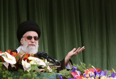Iran's Supreme Leader Ayatollah Ali Khamenei delivers a sermon during his visit to Mashhad, 741km (463 miles) east of Tehran, March 21, 2009. Iran has responded to U.S. President Barack Obama's offer of better relations by demanding policy changes from Washington, but the Islamic state is not closing the door to a possible thaw in ties with its old foe. REUTERS/FARS NEWS