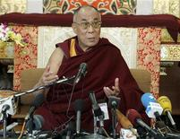 <p>Tibetan spiritual leader Dalai Lama speaks during a news conference on the occasion of the 50th anniversary of a failed uprising that prompted his flight into exile, in the northern Indian hill town of Mcleodganj March 10, 2009. REUTERS/Fayaz Kabli</p>