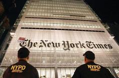 <p>La sede del New York Times. REUTERS/Lucas Jackson</p>