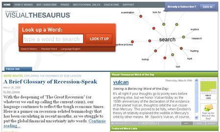 Visualthesaurus.com is seen in this screengrab take March 26, 2009. REUTERS/Visualthesaurus.com