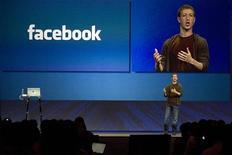 <p>Mark Zuckerberg, fondatore e ad di Facebook, durante la conferenza annuale della società a San Francisco. REUTERS/Kimberly White</p>