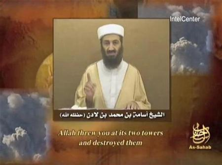 Al Qaeda leader Osama bin Laden is seen speaking in this video grab provided to Reuters on September 11, 2007. REUTERS/Internet