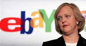 <p>L'AD di EBay Meg Whitman in una conferenza stampa a Bruxelles. REUTERS/Francois Lenoir</p>