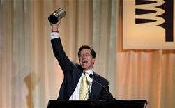 <p>Un momento della premiazione ai Webby Awards. REUTERS/Eric Thayer (UNITED STATES)</p>