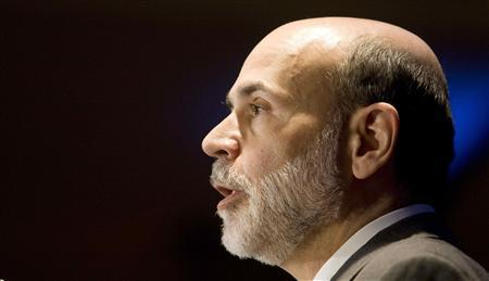 Federal Reserve Chairman Ben Bernanke speaks during a conference on community finance in Washington April 17, 2009. REUTERS/Larry Downing