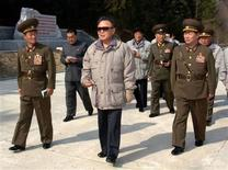 <p>North Korean leader Kim Jong-il (C) visits the newly built Ryongwon power plant in North Korea, in this undated picture released by North Korea's official news agency KCNA April 18, 2009. North Korea made a rare proposal on Saturday for talks with the South over a joint industrial park just north of the border where the communist state has been holding a South Korean worker captive for weeks. REUTERS/KCNA QUALITY FROM SOURCE. NO THIRD PARTY SALES. NOT FOR USE BY REUTERS THIRD PARTY DISTRIBUTORS</p>