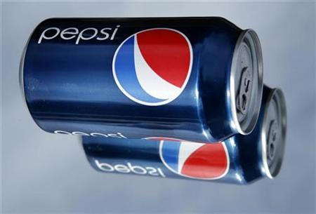 PepsiCo Inc's new marketing campaign, which includes new packaging graphics on cans shown here photographed in Encintas, California February 11, 2009. REUTERS/Mike Blake