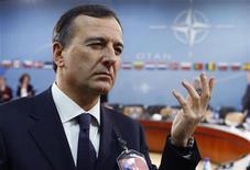 <p>Il ministro degli Esteri Franco Frattini. REUTERS/Francois Lenoir (BELGIUM)</p>
