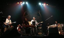 "<p>Guitarist Bob Weir (L), Phil Lesh (C) and Mickey Hart (R), three of the remaining living members of the band ""The Grateful Dead,"" perform at the Warfield Theatre in San Francisco, February 4, 2008. REUTERS/Robert Galbraith</p>"