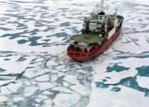 """<p>Российское исследовательское судно """"Академик Федоров"""" в водах Северного Ледовитого океана 2 августа 2007 года. Соединенные Штаты, обеспокоенные таянием льдов в Арктике, намерены сотрудничать с Россией и другими арктическими государствами, сказал заместитель госсекретаря США Джеймс Стейнберг в интервью Рейтер. REUTERS/Reuters Television</p>"""