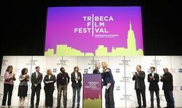 <p>La conferenza stampa del Tribeca Film Festival a New York. REUTERS/Lucas Jackson</p>