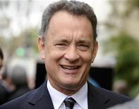 <p>Una immagine di archivio di Tom Hanks. REUTERS/Phil McCarten</p>
