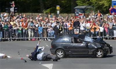 Car plows into Dutch parade crowd