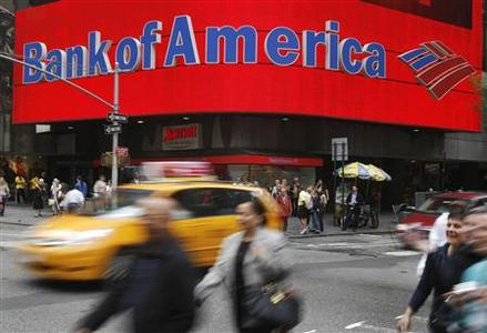 A Bank of America branch is pictured in New York, May 7, 2009. REUTERS/Shannon Stapleton